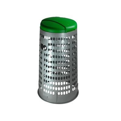 SUPORT DIN PLASTIC PENTRU SACI ECO TRESPOLO 110 l  - container gri, capac verde